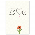 Tarjeta postal Fifi Mandirac 15x10.5 cm All You Need Is Love x1