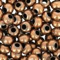 Rocallas de metal 8/0 cobre antiguo x10g