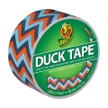Adhesivo Duck Tape con motivos 48 mm Blue Chevron x9m