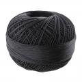 Hilo algodón Lizbeth talla 80 Black n°604 x168m
