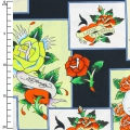 Tejido Love Is True by Ed Hardy - Overlapping Patches x10cm