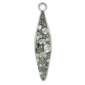 Pavé Pendant Swarovski 67472 20 mm Crystal Sil Shade/Black Diamond x1