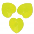 Corazones Swarovski 6228 10,3x10 mm Yellow Opal x6