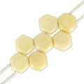 Honeycomb 6 mm Chalkwhite Luster Champagne x20