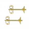 Pendientes para redondas semi-perforadas 8 et 10 mm Gold Filled x2