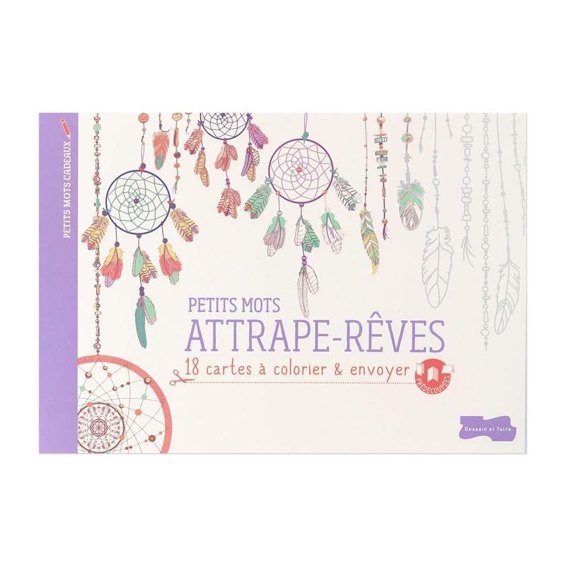 18 tarjetas a colorear y mandar - Atrapasueños - Perles & Co