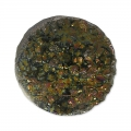 Cabochon Druzy Agate 18 mm Coffee x1