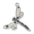 Pave Pendant Swarovski 67523 18 mm Moonlight/Silver Night/Shade rodiado