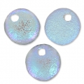 Lentes  6 mm Etched Crystal Blue Rainbow x50