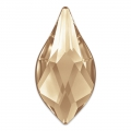 Cabochon à coller Flame Swarovski 2205  7.5 mm Crystal Golden Shadow