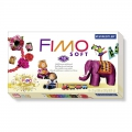 Kit Fimo Soft Vintage 50 ans - 10 barritas de pasta 25g + accessorioss