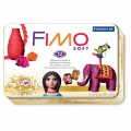Kit Fimo Soft Vintage 50 ans - 12 barritas de pasta de 57g + caja de metal collector