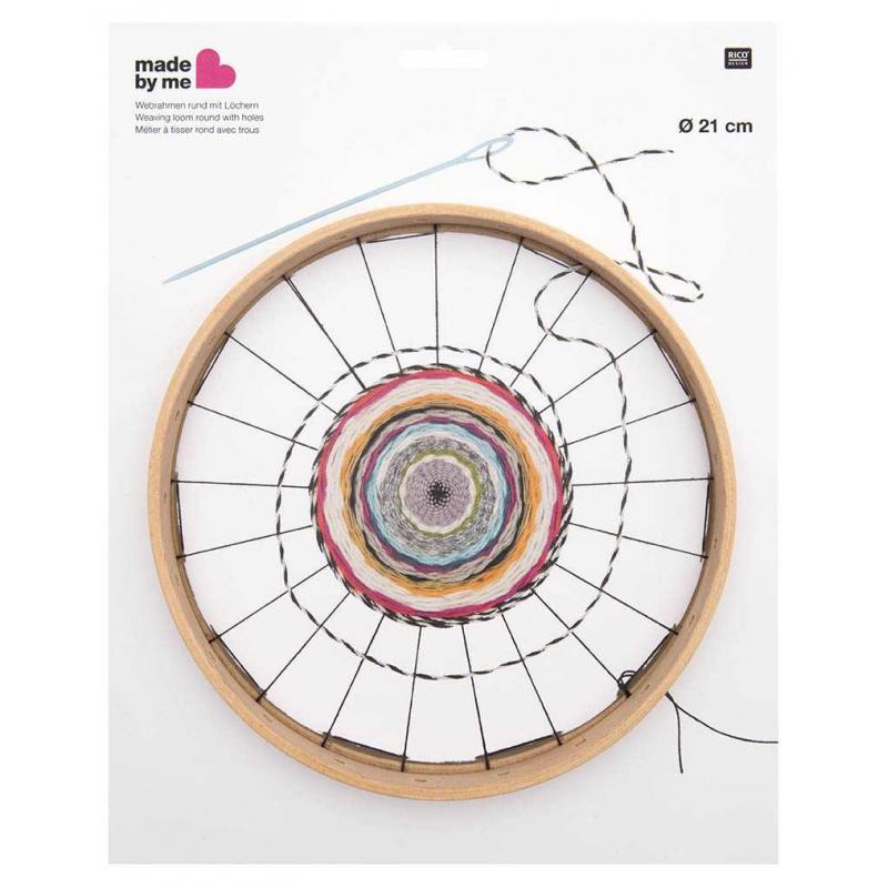 Telar para tejer la lana redondo con agujeros 21 cm x1 - Perles & Co