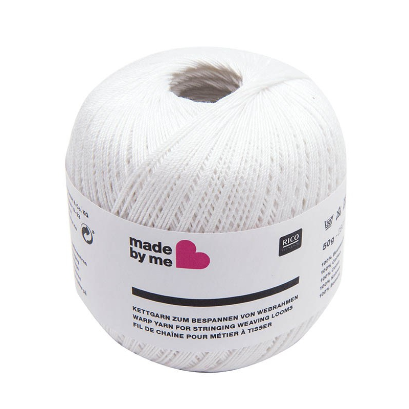 Hilo de urdimbre para telar - lana Blanca x 50g - Perles & Co