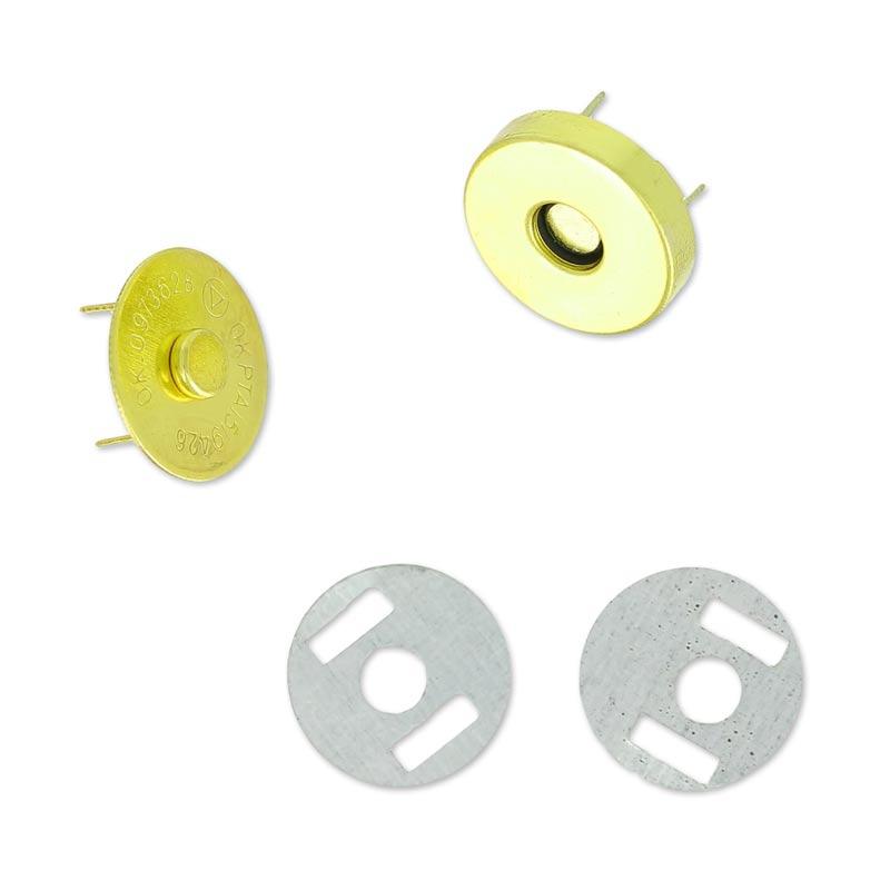 Cierre magnético para bolsa o bolsito dorado - Perles & Co