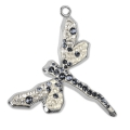 Pave Pendant Swarovski 67523 3 mm Moonlight/Silver Night/Shade rodiado