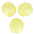 Facetadas 8 mm Pastel Yellow Pearl x20