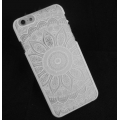 Funda Rígida a personalizar para iPhone 6/6S Decor Mandalas Blanco x1