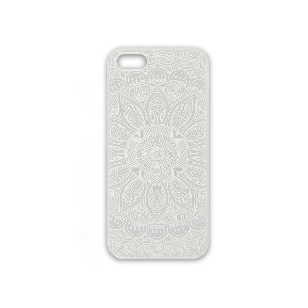 Funda r gida a personalizar para iphone 5 5s decor mandalas blanco perles co - Personalizar funda iphone ...