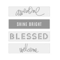 Lightbox Heidi Swapp - Diapositivos Awesome/Shine Bright/Blessed/ Welcome