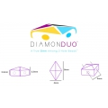 Diamonduo 2-hole 5x8 mm Chapado en Plata x10g
