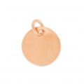 7dbda46191d4 Dije medalla 10 mm de Plata 925 dorado rosa x1