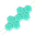 Honeycomb 6 mm Green Turquoise x20
