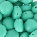 CandyBeads 2-hole 8 mm Green Turquesa x20