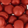 Candy Beads 2-hole 8 mm Red Metallic Mat x20