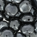 Candy Beads 2-hole 8 mm Jet Hematite x20