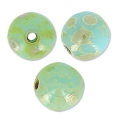 Cuentas redondas 4 mm Blue Turquoise Picasso x50