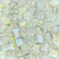 Cuentas redondas 4 mm Crystal Blue Rainbow x50