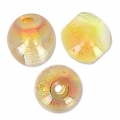 Cuentas redondas 4 mm Crystal Lemon Rainbow x50