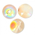 Cuentas redondas 4 mm Crystal Orange Rainbow x50