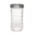 Frasco Mason Jar Ball 12 oz motivo diamante  x1