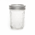 Frasco Mason Jar Ball 8 oz motivo diamante  x1