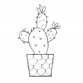 Sello en madera Flamingo 5 x 3 cm Cactus 3 x1