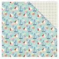 Kit Papeles estampados Julie Nutting Nautical Bliss 30.5x30.5 cm Barco/Guisante x1