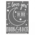 papel-transfer thermoadhesivo I love you to the moon and back 24.8x17 cm Blanc x1