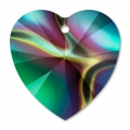 Corazones Swarovski 6228 10,3x10 mm Crystal Rainbow Dark x6