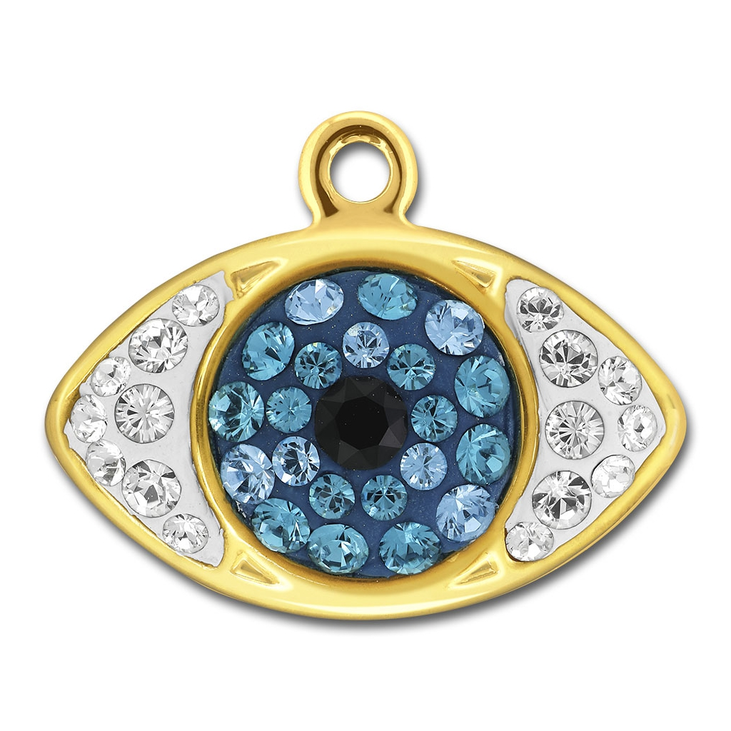 Pav eye pendant swarovski 67544 85x14 mm crystal indic aqua do pav eye pendant swarovski 67544 85x14 mm crystal indic aqua dorado x1 aloadofball Images