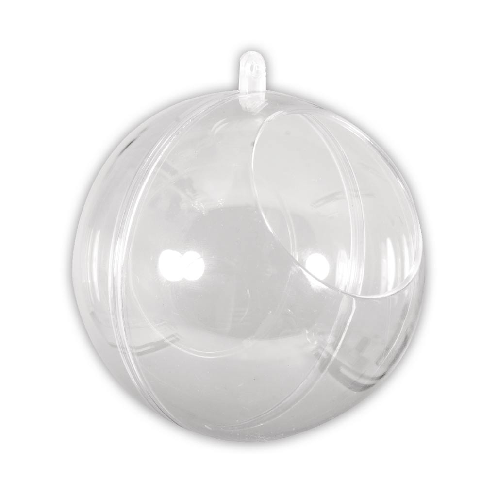 Bola De Navidad Transparente Para Rellenar 100 Mm Con Apertura De 60 - Bolas-de-navidad-transparentes