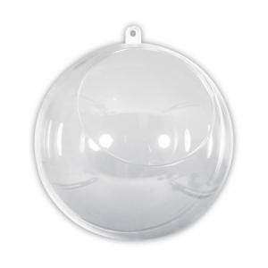 Bola De Navidad Transparente Para Rellenar 120 Mm Con Apertura De 75 - Bolas-de-navidad-transparentes