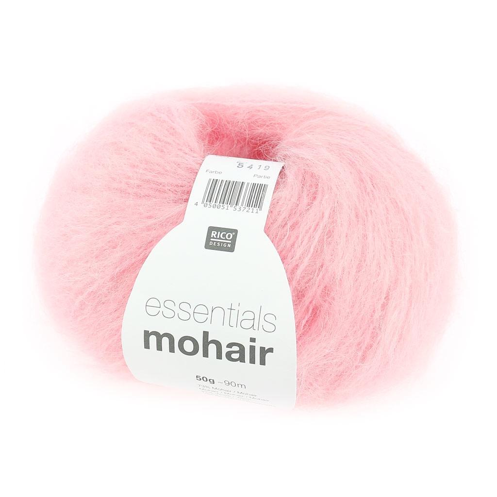 Lana Essentials Mohair n°004 Rosa x 50g - Rico Design - Perles & Co