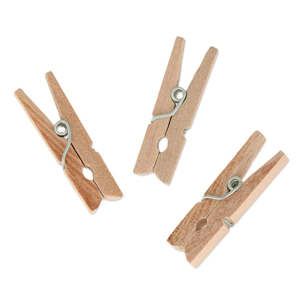 Mini-pinzas de ropa de madera para decoración 30 mm ...