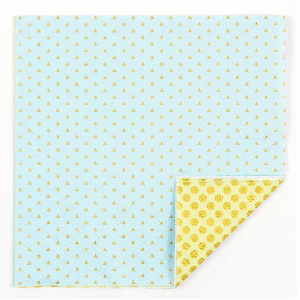 Servilletas de papel decorativo motivo confeti 33 cm azul for Papel decorativo dorado