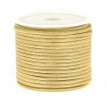 Cordon polyester imitation serpent type snake cord 2 mm Beige x10 m