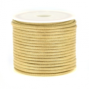 Cordon polyester imitation serpent type snake cord 2 mm Beige x9 m