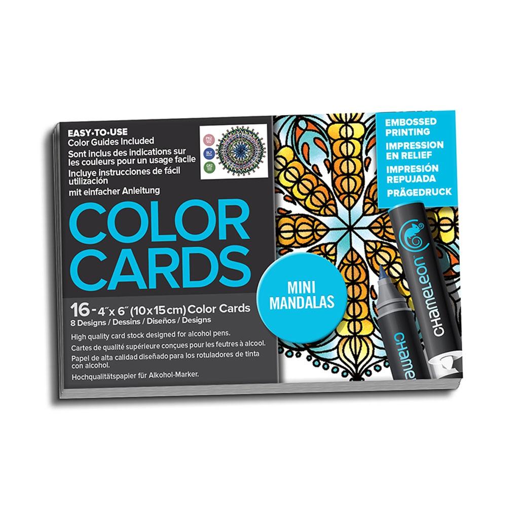 Surtido de 16 tarjetas para colorear Chameleon Color Cards Mandala ...