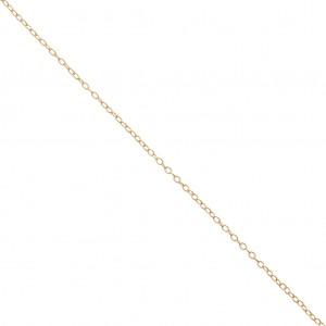 63e30f941fad Cadena fina malla forçat ovalada 1.4 mm dorado x1m - Perles   Co